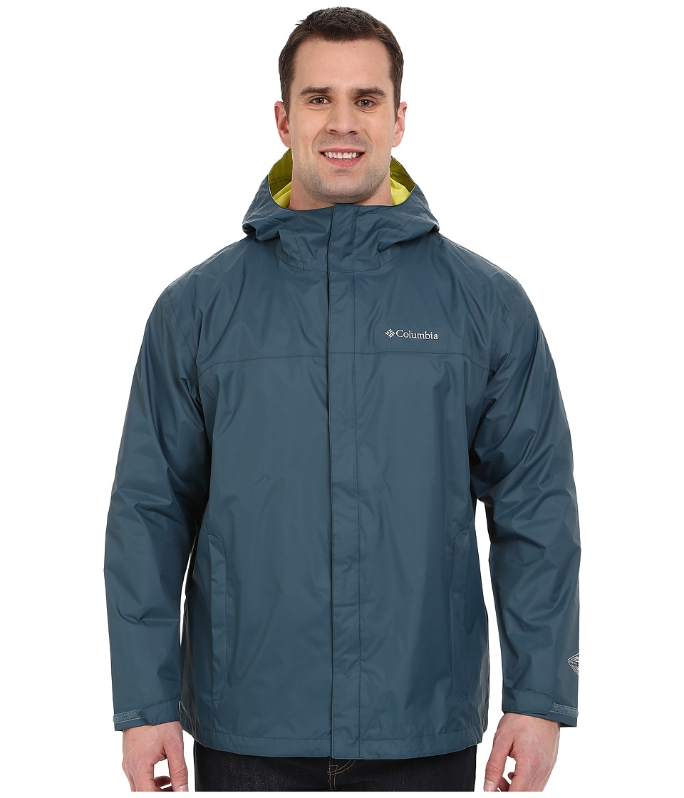 Columbia - Watertight II Jacket - Extended (Everblue/Chartreuse) Men's Coat