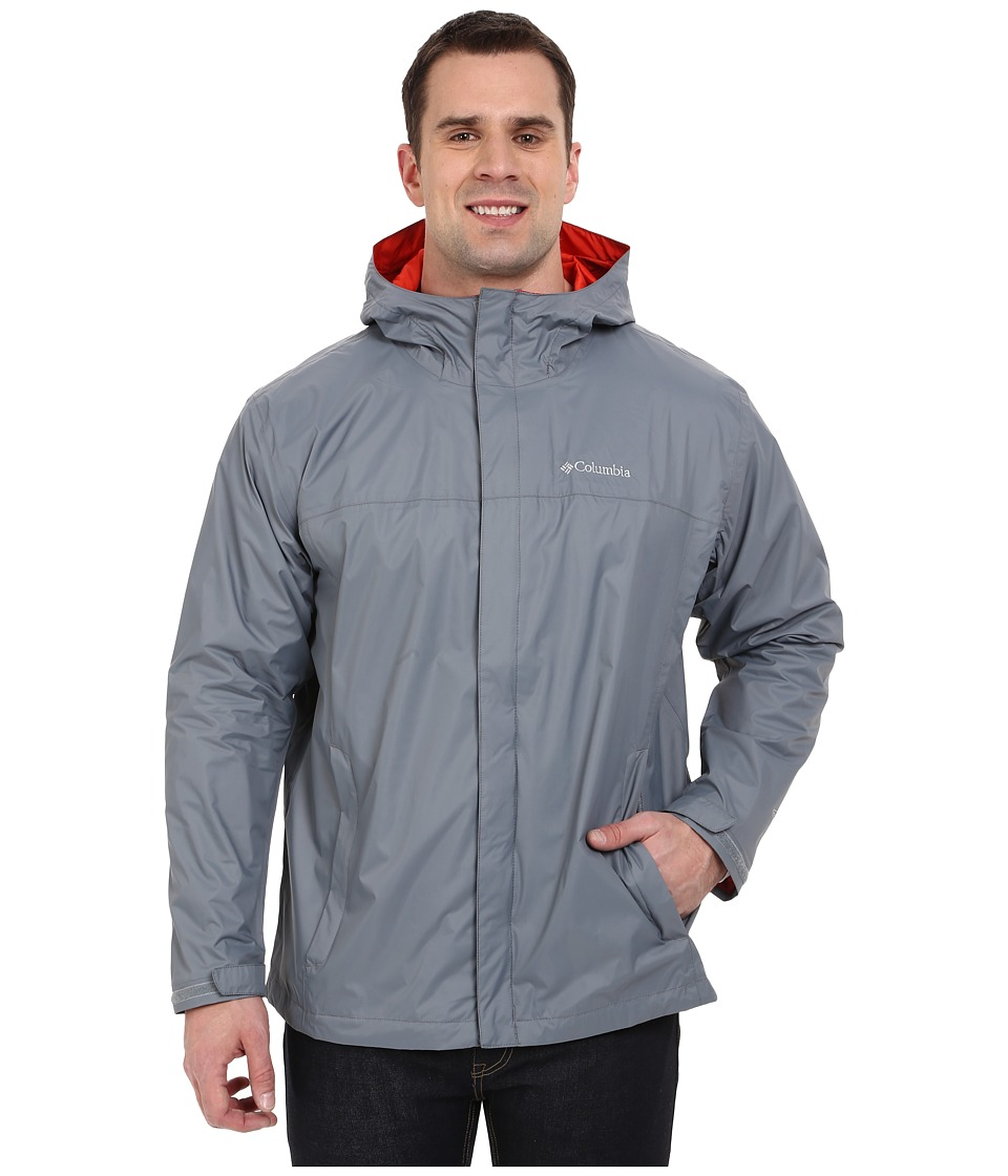 Columbia - Watertighttm II Jacket - Extended (Grey Ash/Super Sonic) Men's Coat