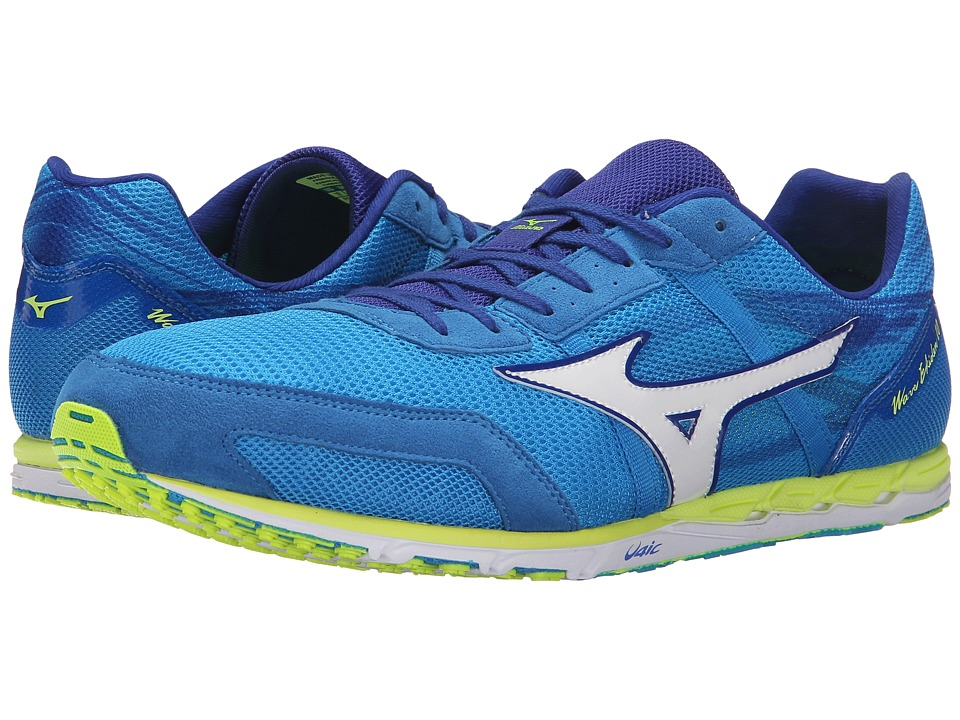 Mizuno - Wave Ekiden 10 (Dude Blue/White/Safety Yellow) Running Shoes
