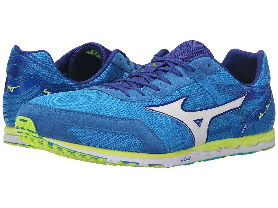 Mizuno - Wave Ekiden 10 (Dude Blue/White/Safety Yellow) Running Shoes