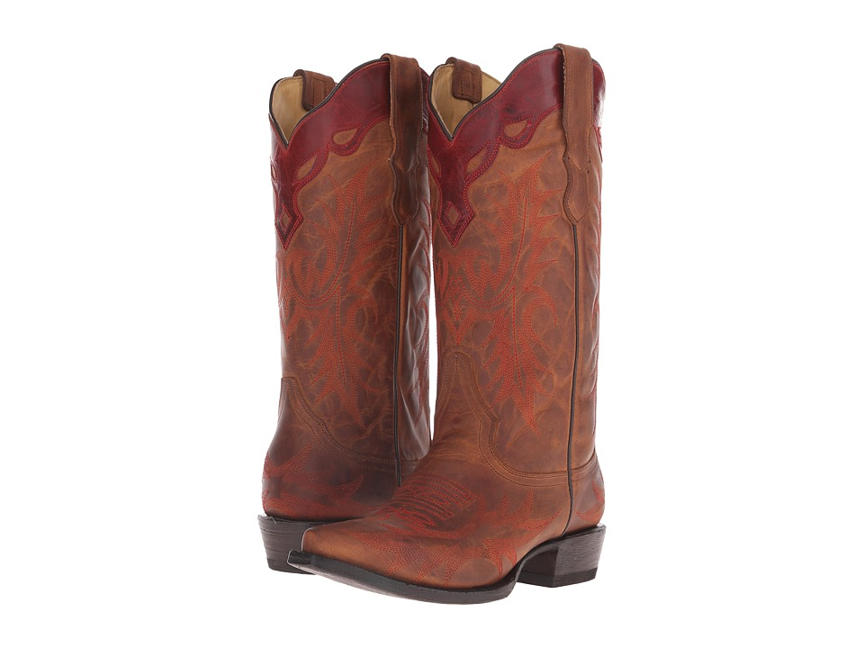 Stetson - Ginger (Brown Vamp) Cowboy Boots