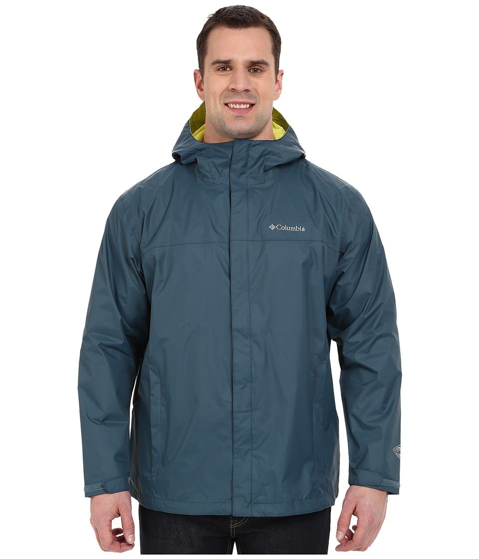 Columbia - Watertight II Jacket - Tall (Everblue/Chartreuse) Men's Coat