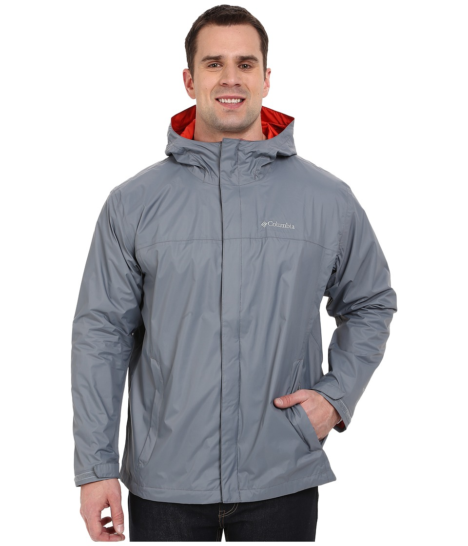 Columbia - Watertighttm II Jacket - Tall (Grey Ash/Super Sonic) Men's Coat