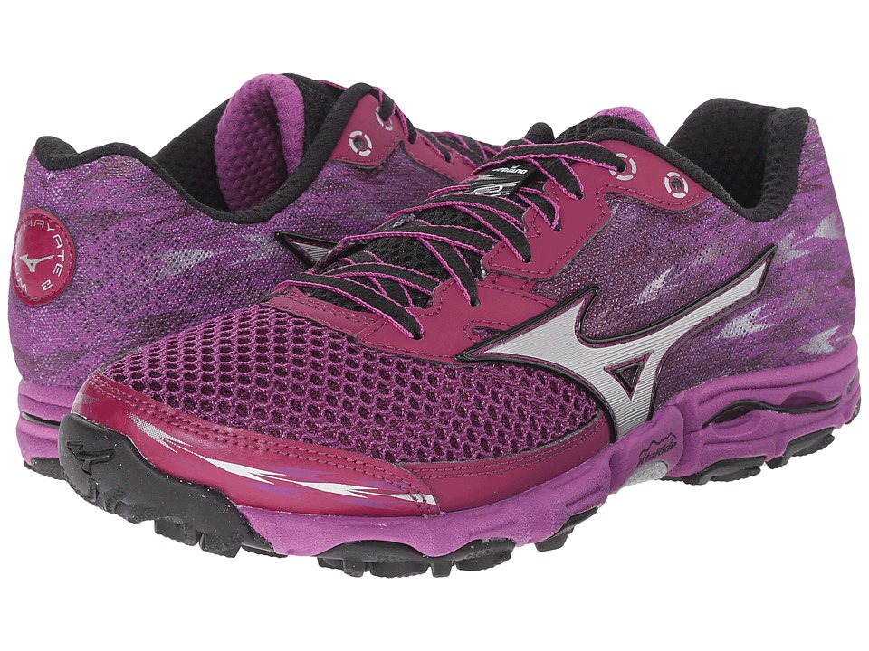 Mizuno - Wave Hayate 2 (Royal Purple/Silver/Irish Green) Women's Running Shoes