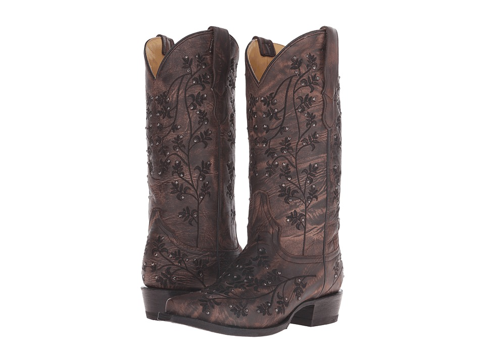 Stetson Desiree Snip (Black Washed Vamp) Cowboy Boots