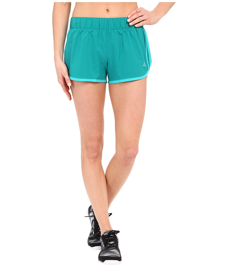 adidas - Woven 3-Stripes Shorts (EQT Green) Women's Shorts