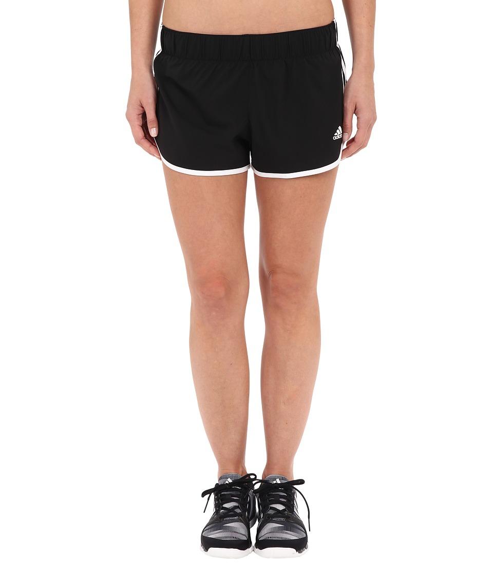 adidas - Woven 3-Stripes Shorts (Black) Women's Shorts