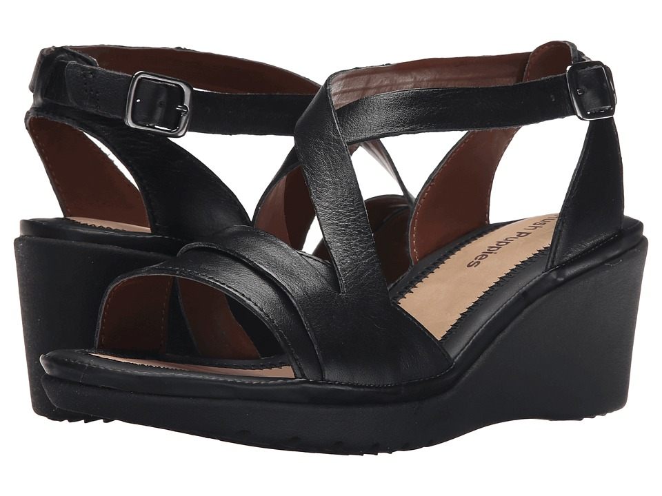 Hush Puppies - Rory Russo (Black Leather) Women's Wedge Shoes