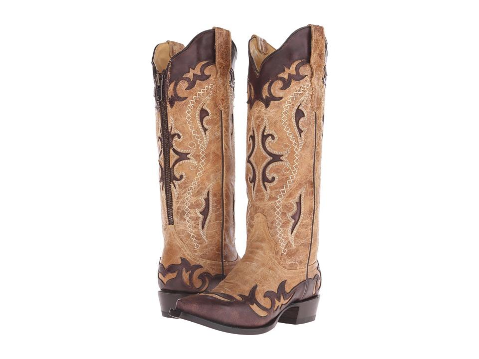 Stetson Vivi Narrow (Crackled Tan) Cowboy Boots