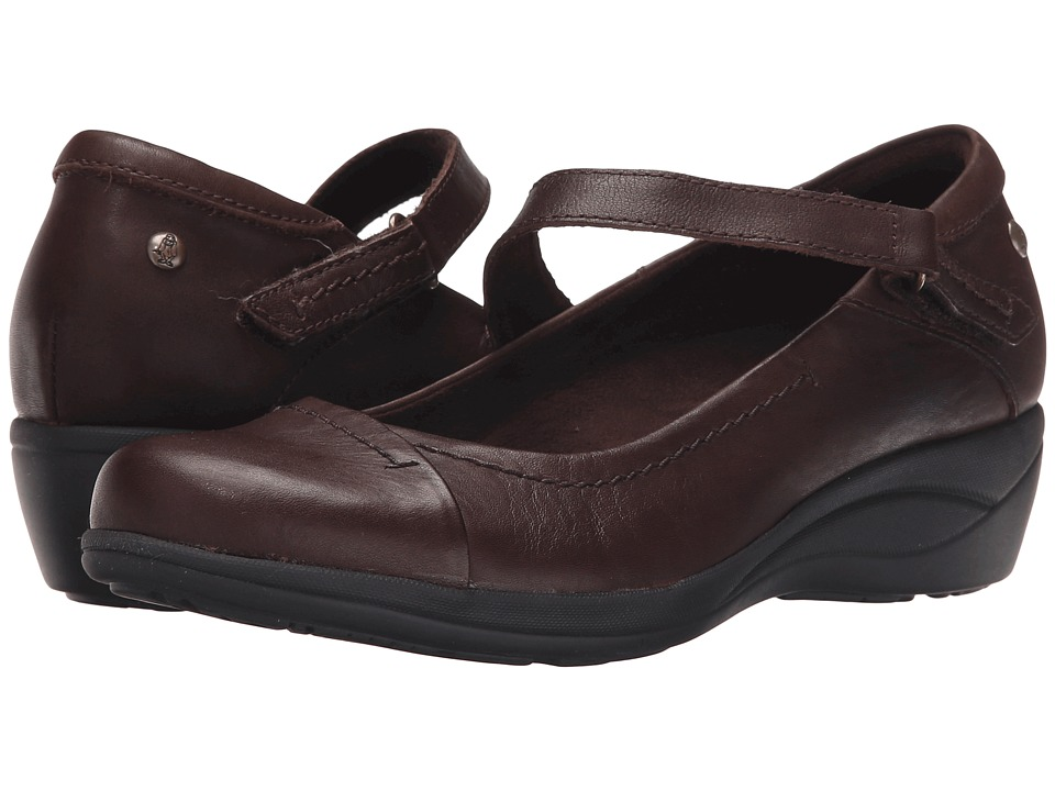 Hush Puppies Blanche Oleena (Dark Brown Leather) Women