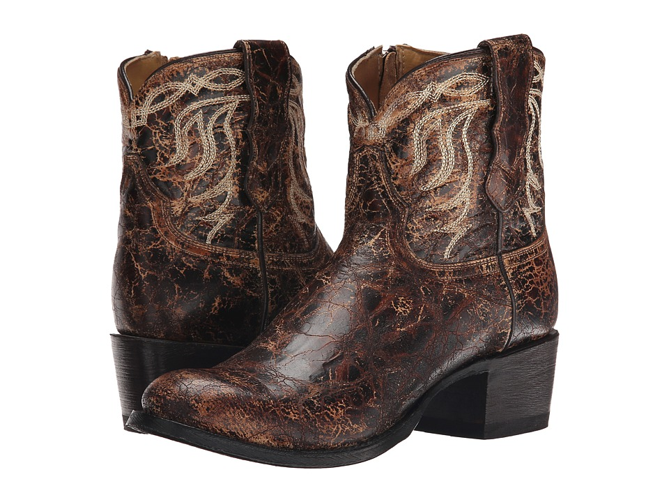 Stetson - Sarah (Distressed Brown Vamp) Cowboy Boots