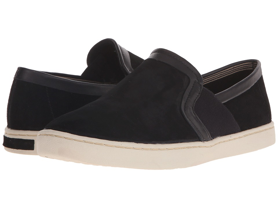 Hush Puppies - Cherish Gwen (Black Suede) Women's Slip on Shoes