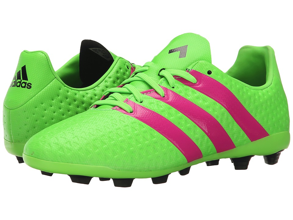 adidas Kids - Ace 16.4 FxG Soccer (Toddler/Little Kid/Big Kid) (Solar Green/Shock Pink/Black) Kids Shoes