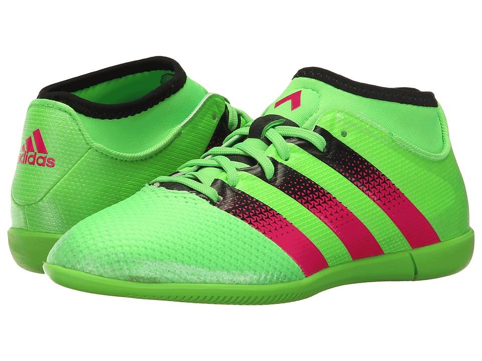 adidas Kids - Ace 16.3 Primemesh IN Soccer (Little Kid/Big Kid) (Solar Green/Shock Pink/Black) Kids Shoes