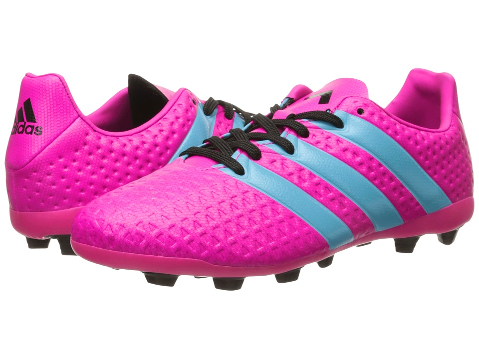 adidas Kids Ace 16.4 FxG Soccer (Toddler/Little Kid/Big Kid) (Shock Pink/Blue Glow/Black) Kids Shoes
