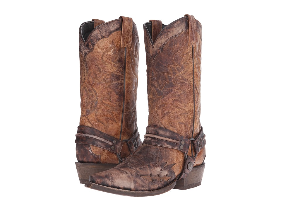 Stetson Averell Snip (Washed Crater Brown) Cowboy Boots