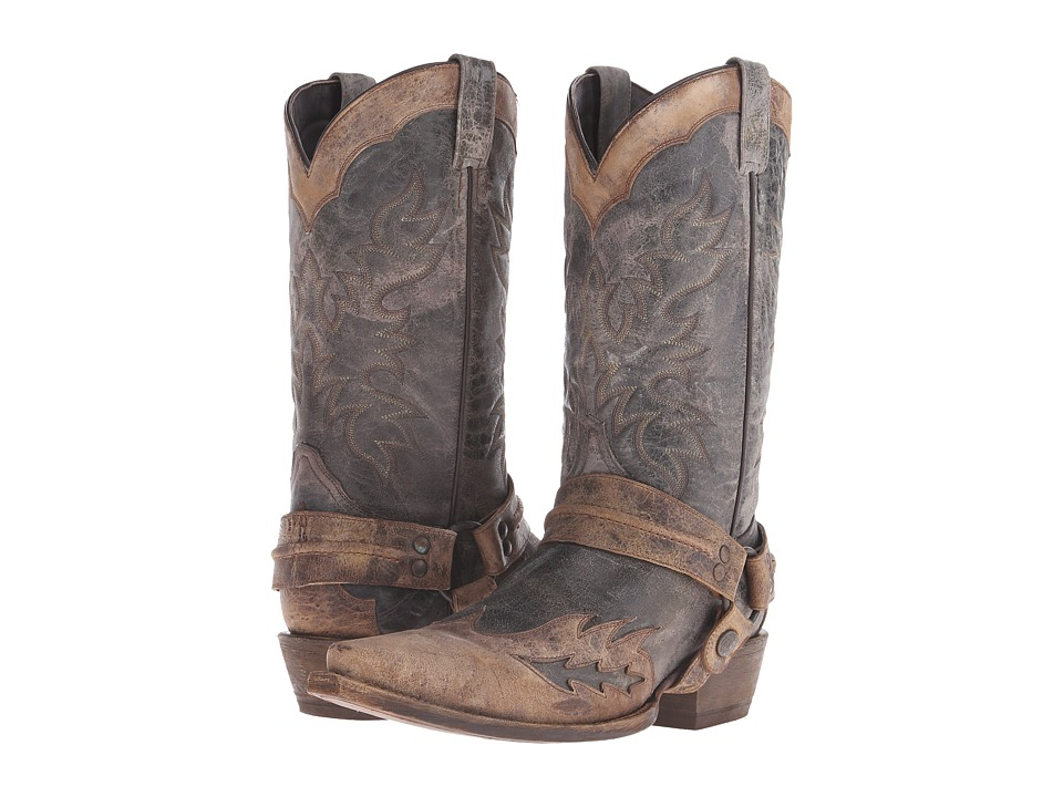 Stetson - Averell Snip (Washed Crater Black) Cowboy Boots