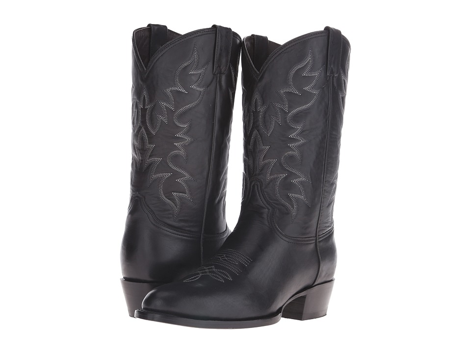 Stetson Midnight (Burnished Black) Cowboy Boots