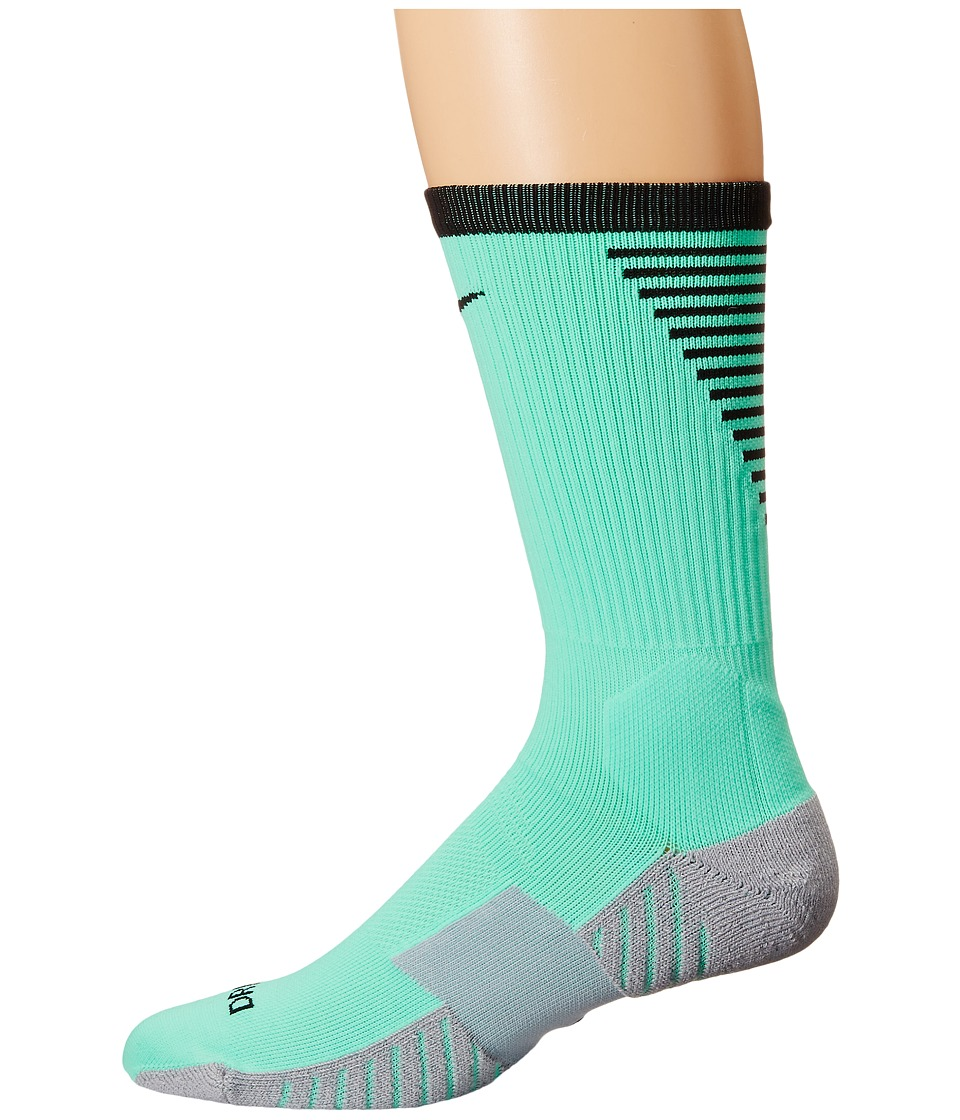 Nike - Nike Stadium Football Crew (Green Glow/Black/Black) Men's Crew Cut Socks Shoes