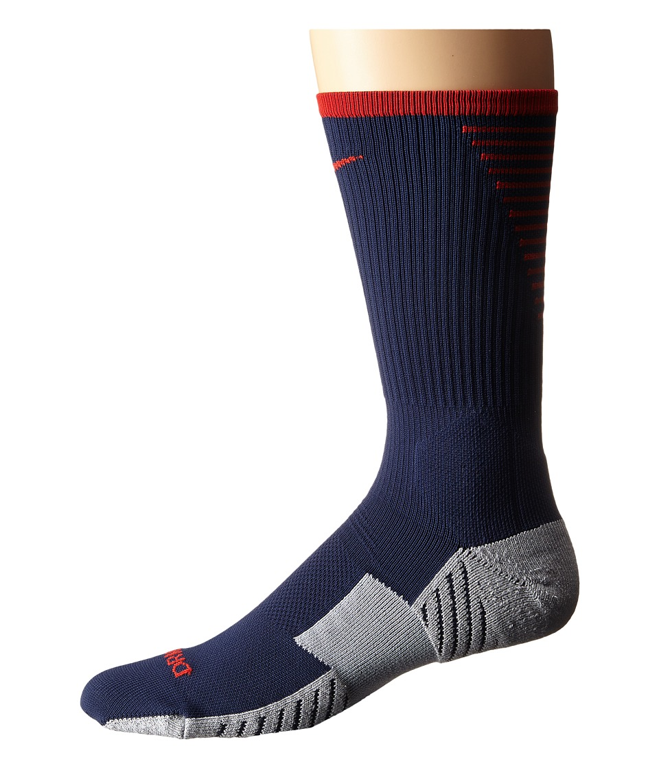 Nike - Nike Stadium Football Crew (Midnight Navy/Pimento/Pimento) Men's Crew Cut Socks Shoes