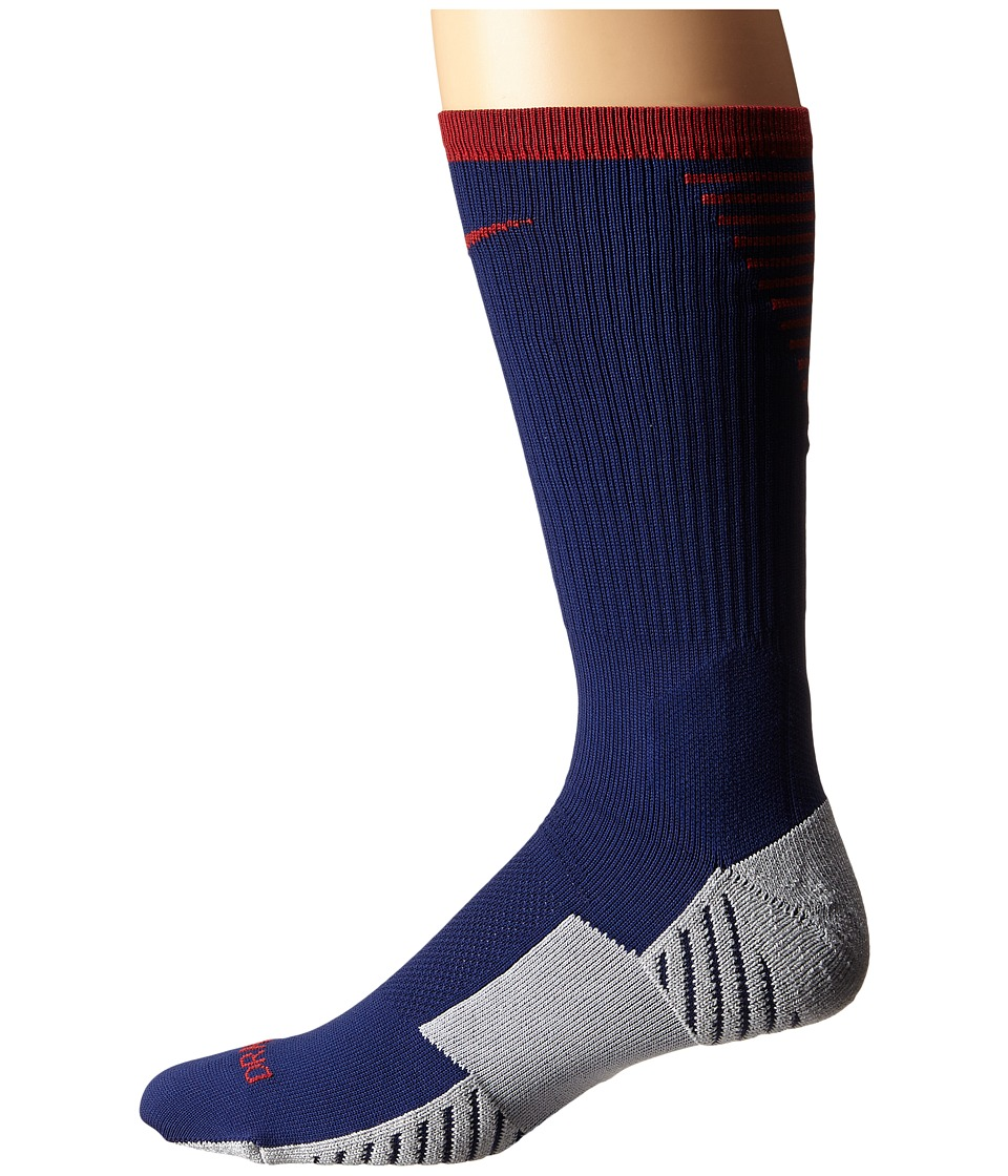 Nike - Nike Stadium Football Crew (Loyal Blue/Storm Red/Storm Red) Men's Crew Cut Socks Shoes