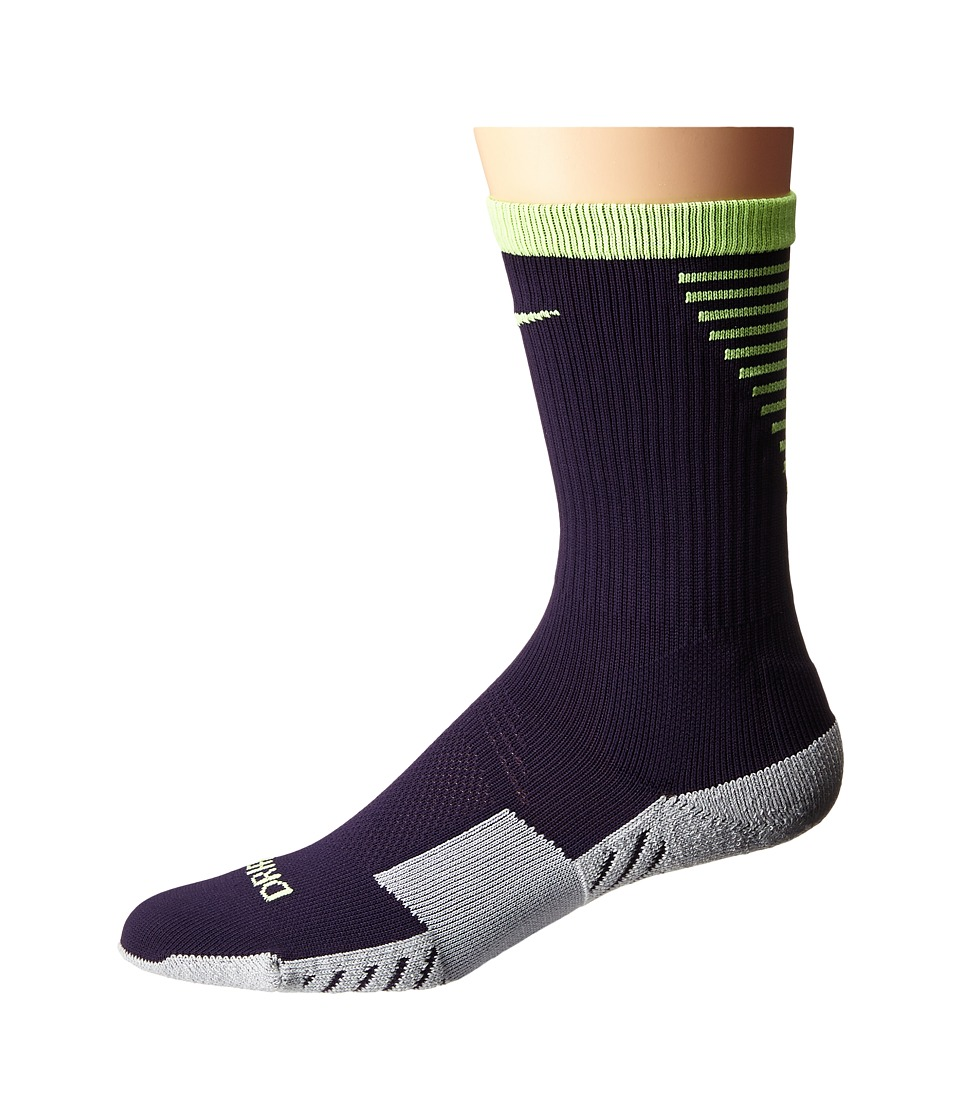 Nike - Nike Stadium Football Crew (Purple Dynasty/Ghost Green/Ghost Green) Men's Crew Cut Socks Shoes