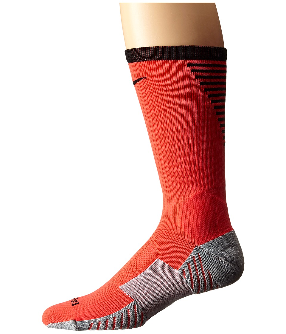 Nike - Nike Stadium Football Crew (Bright Crimson/Black/Black) Men's Crew Cut Socks Shoes