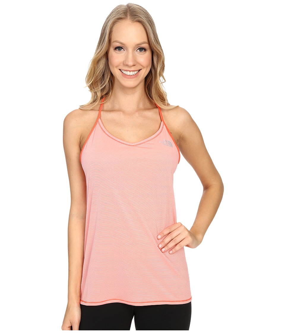 The North Face - Better Than Naked Singlet (Neon Peach/TNF White) Women's Sleeveless