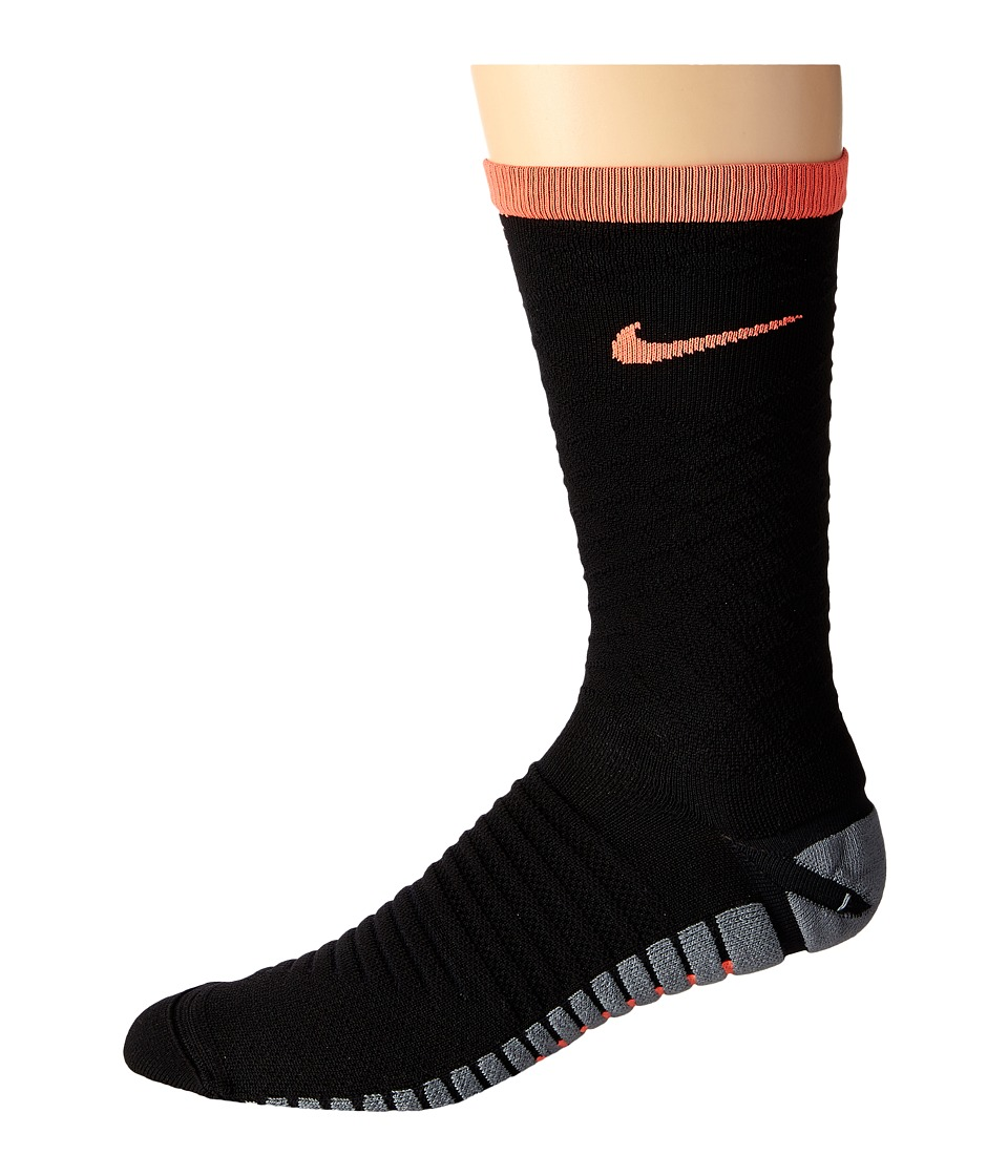 Nike - Nike Strike Tiempo Crew (Black/Hyper Orange/Hyper Orange) Crew Cut Socks Shoes