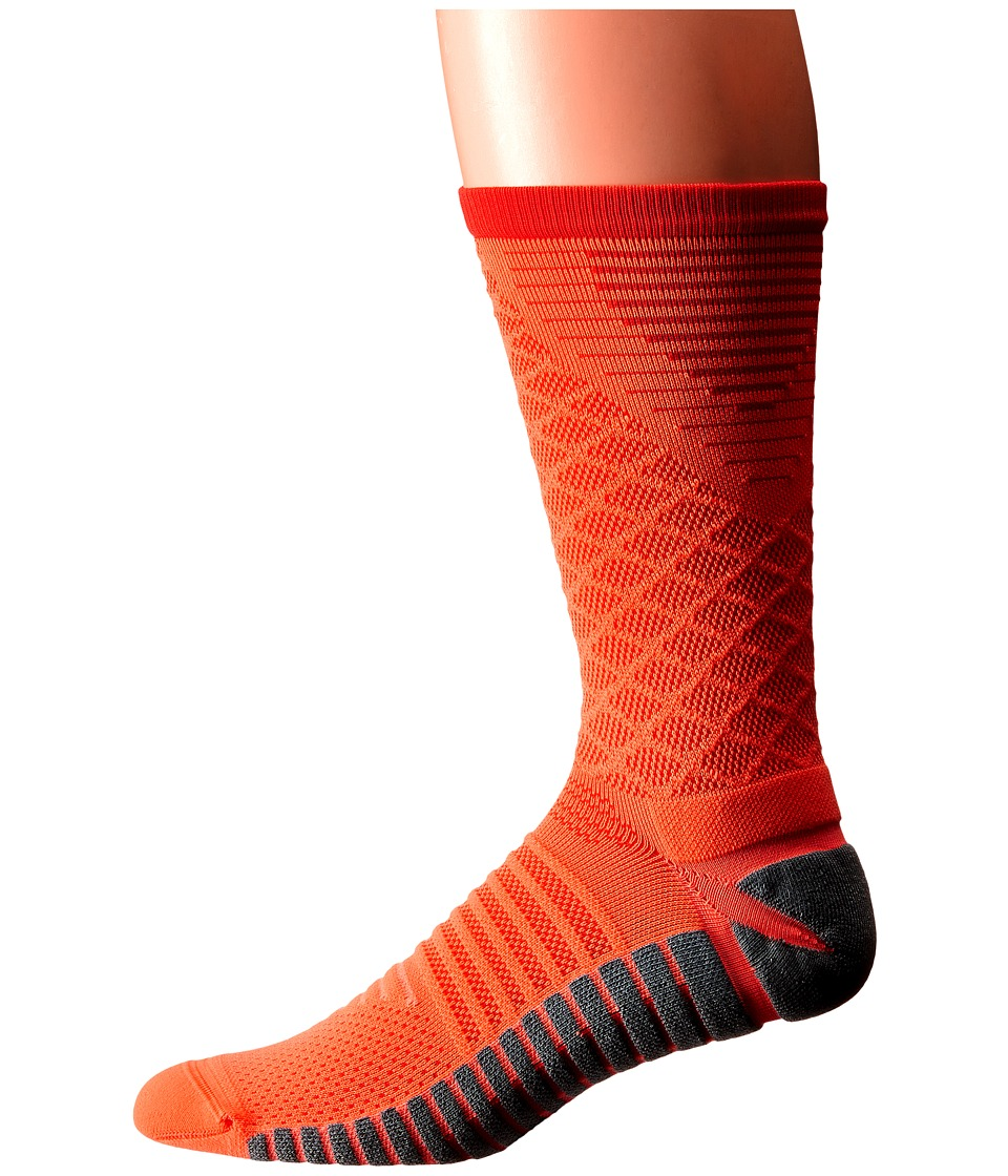Nike - Nike Strike Tiempo Crew (Hyper Orange/LT Crimson/LT Crimson) Crew Cut Socks Shoes