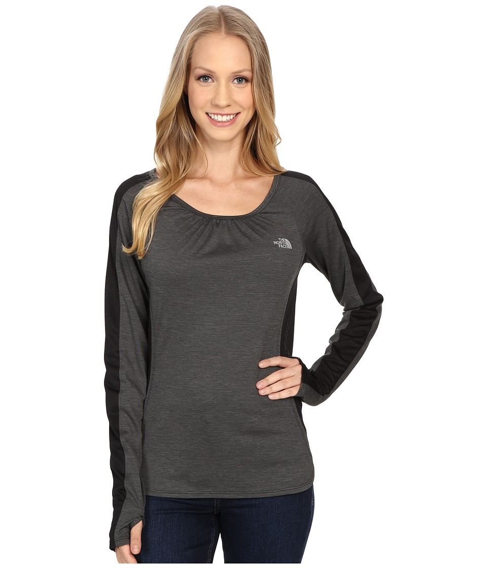 The North Face - Initiative Long Sleeve (TNF Black Heather) Women's Long Sleeve Pullover