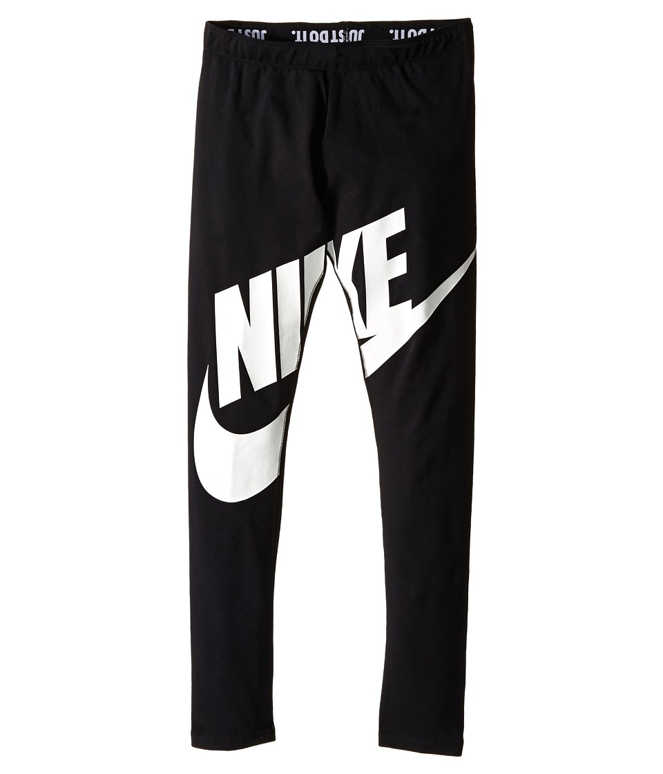 Nike Kids - Leg-A-See Futura Graphics Tights (Little Kids/Big Kids) (Black) Girl's Casual Pants