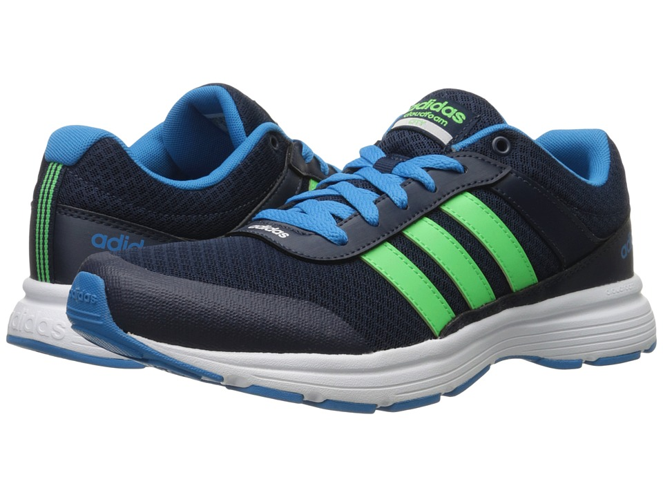 adidas - Cloudfoam VS City (Collegiate Navy/Flash Green/Solar Blue) Men's Running Shoes