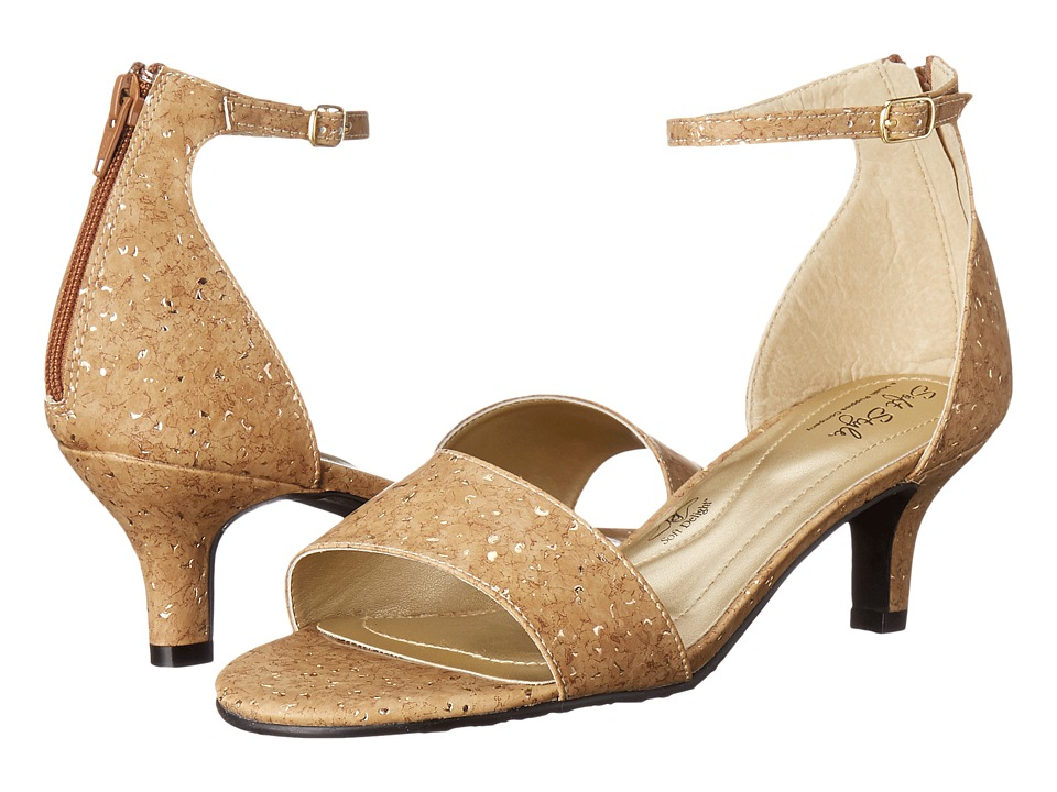 Soft Style Madalyn (Cork Metallic) High Heels