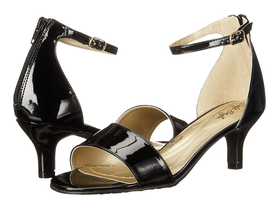 Soft Style Madalyn (Black Patent) High Heels