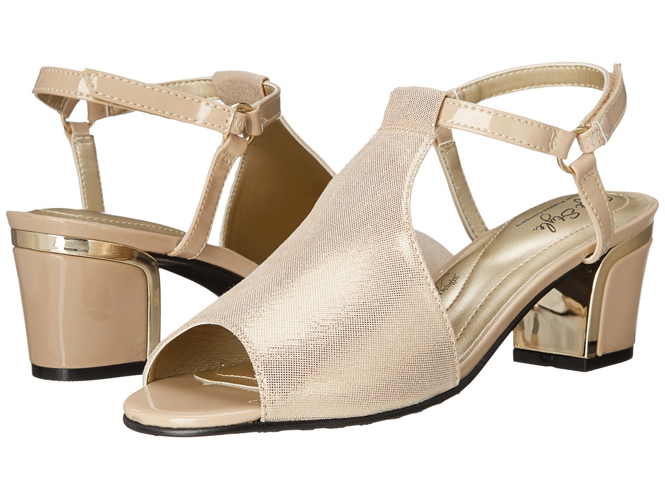 Soft Style - Dalyne (Natural Sparkle Shine/Gold Heel) Women's Shoes
