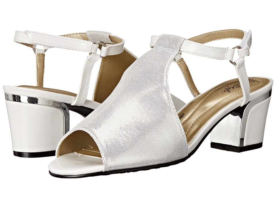 Soft Style - Dalyne (White Sparkle Shine/Silver Heel) Women's Shoes