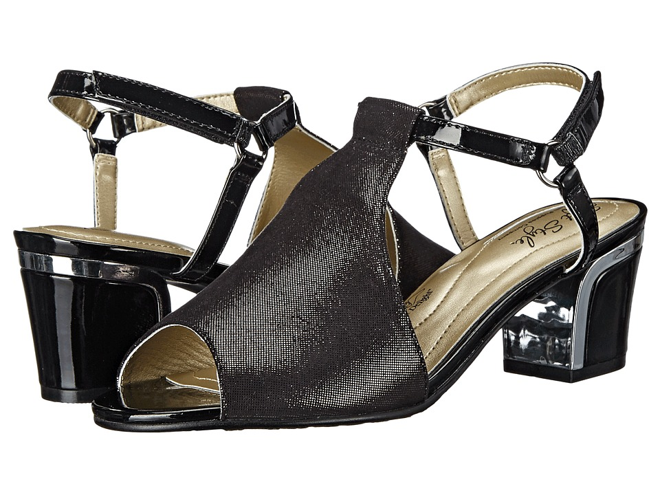 Soft Style - Dalyne (Black Sparkle Shine/Silver Heel) Women's Shoes