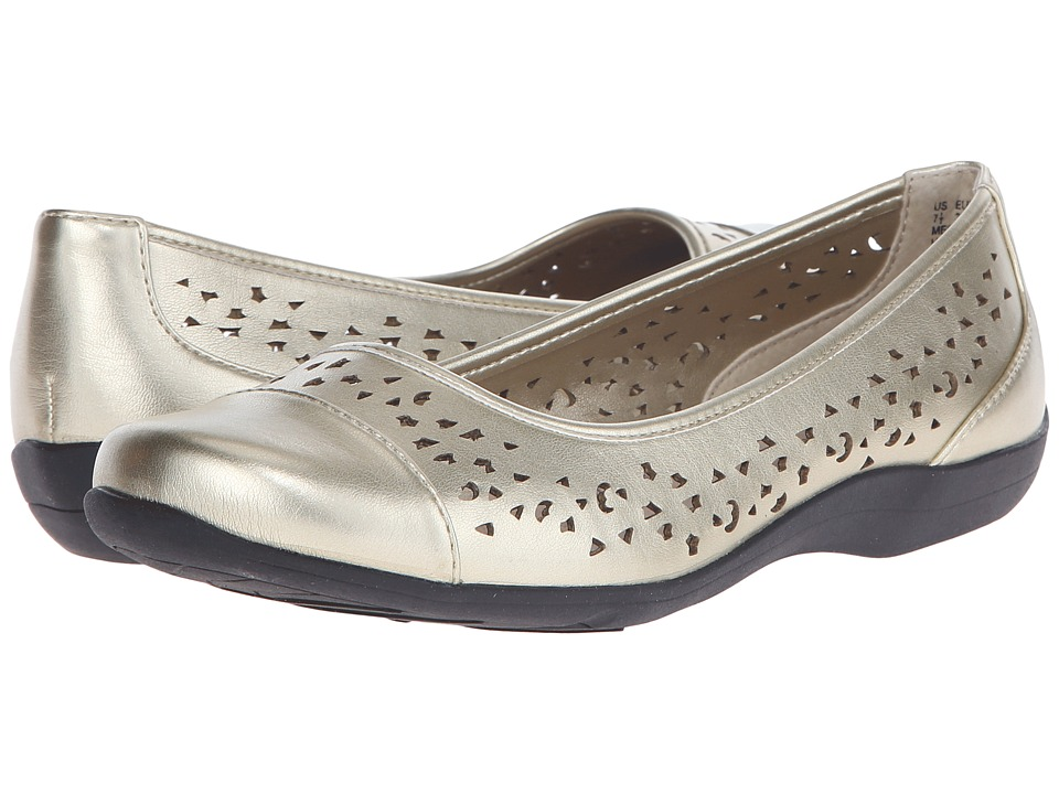 Soft Style - Hadie (Platinum Vitello) Women's Flat Shoes