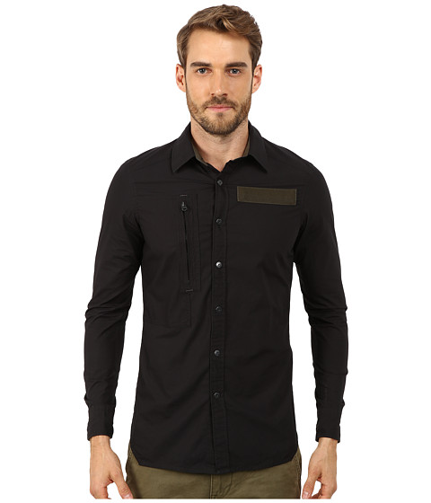 G-Star - Powell 3D Long Sleeve Shirt (Black) Men's Clothing
