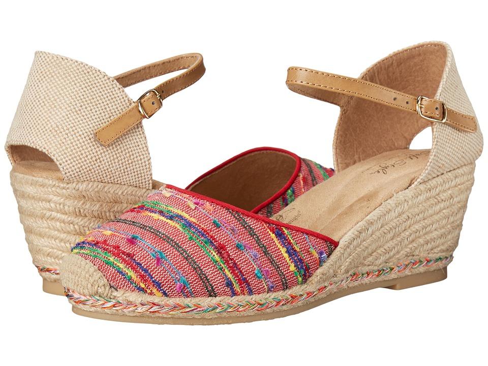 Soft Style - Pepin (Denim Fringe) Women's Wedge Shoes