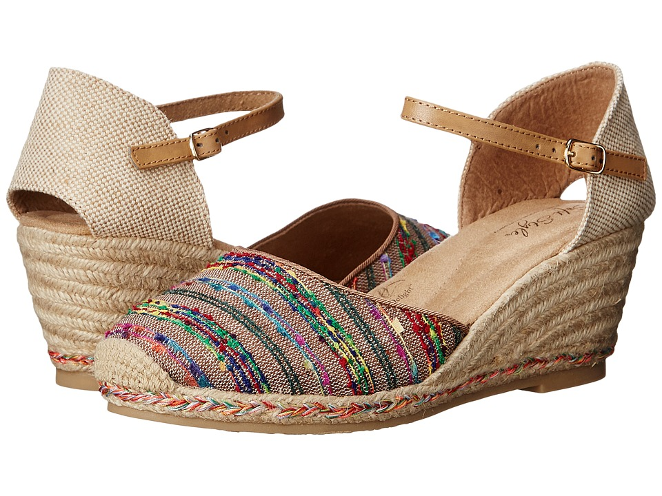 Soft Style - Pepin (Tan Fringe Canvas) Women's Wedge Shoes