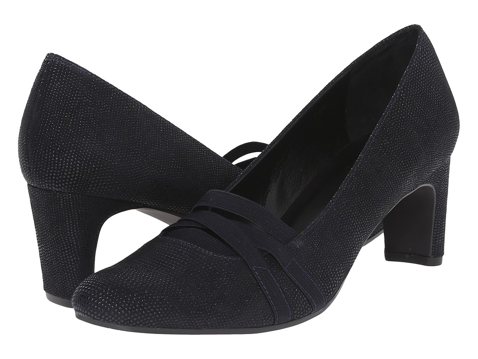 Vaneli - Deirdre (Navy Molly Rodi/Match Elastic) Women's 1-2 inch heel Shoes