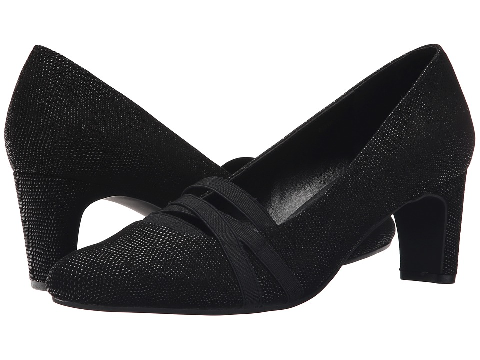 Vaneli - Deirdre (Black Molly Rodi/Black Elastic) Women's 1-2 inch heel Shoes