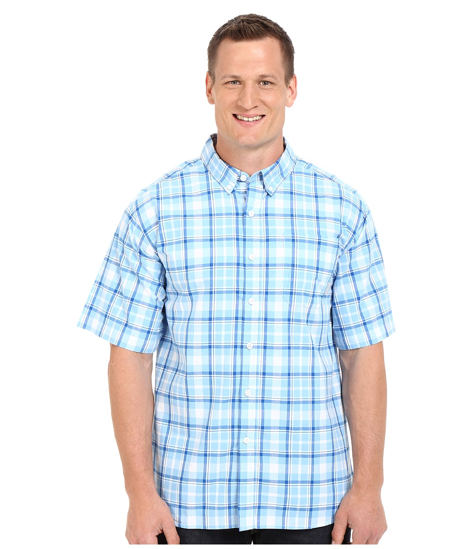Columbia - Plus Size Rapid Rivers II Short Sleeve Shirt (Blue Sky Plaid) Men's Clothing