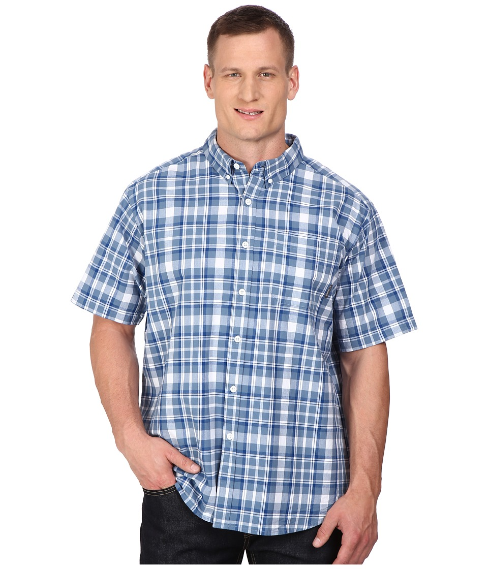 Columbia - Plus Size Rapid Rivers II Short Sleeve Shirt (Marine Blue Square Plaid) Men's Clothing