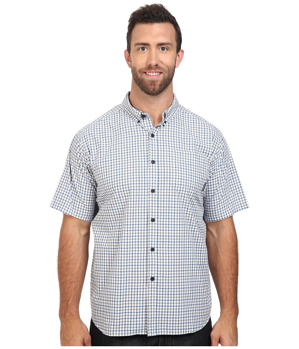 Columbia - Plus Size Rapid Rivers II Short Sleeve Shirt (Steel Plaid) Men's Clothing