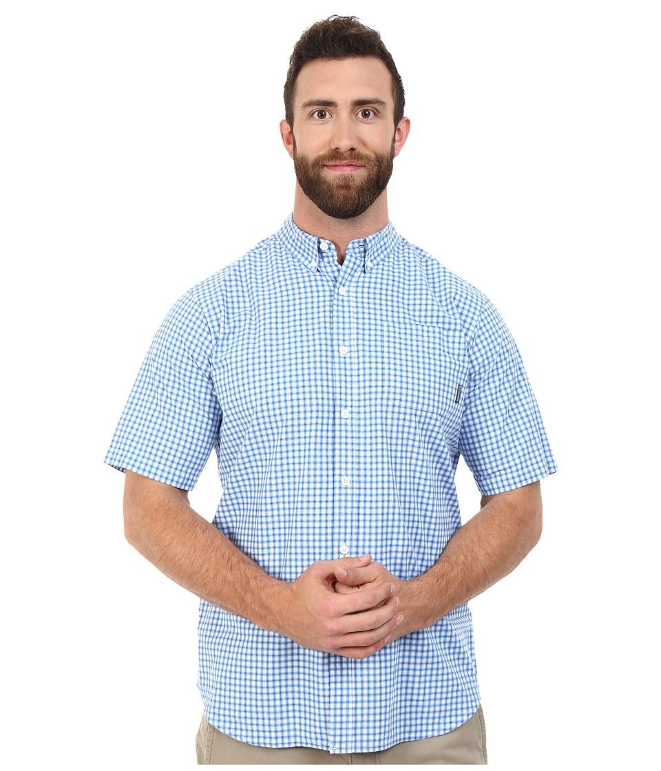 Columbia - Plus Size Rapid Rivers II Short Sleeve Shirt (Super Blue Plaid) Men's Clothing