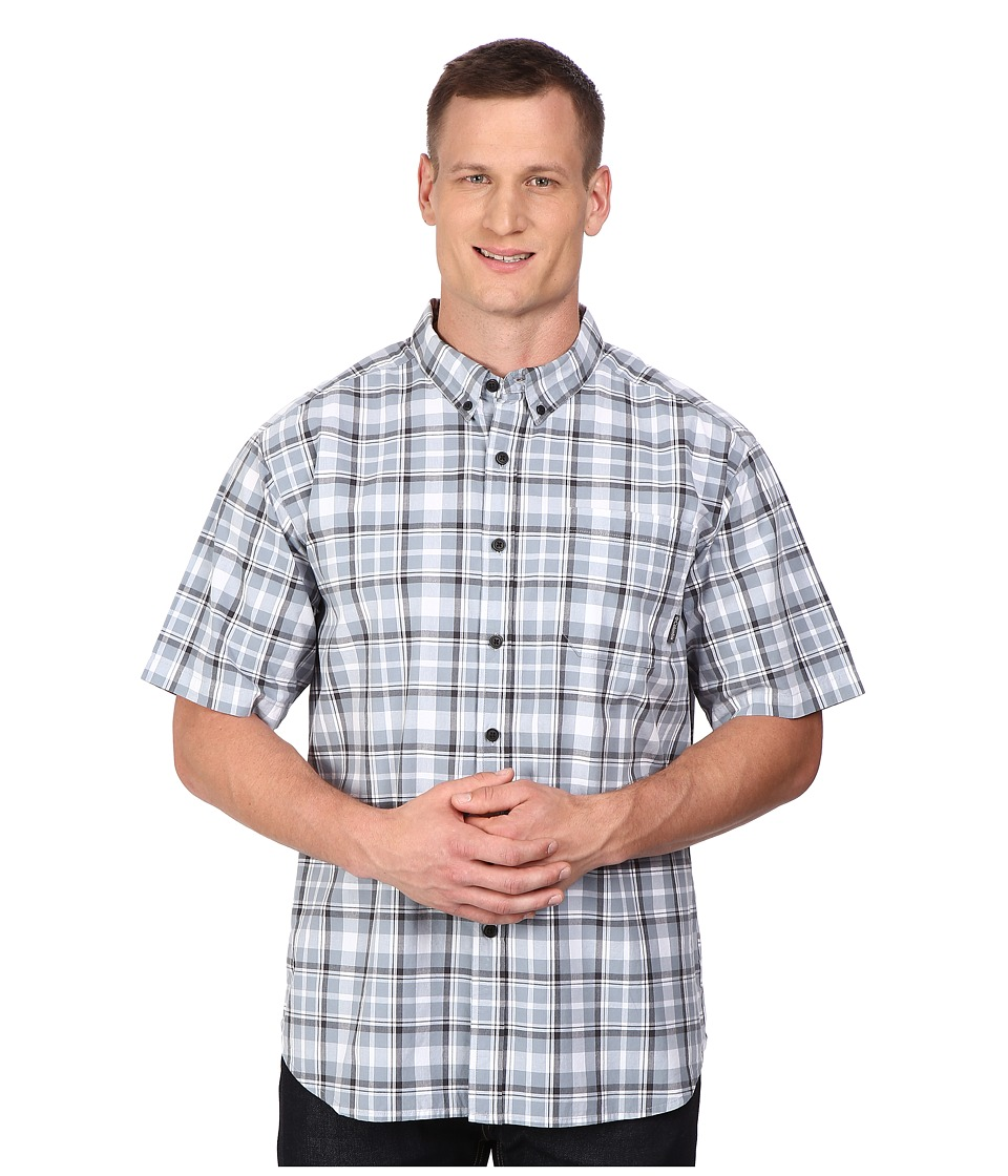 Columbia - Plus Size Rapid Rivers II Short Sleeve Shirt (Tradewinds Grey Square Plaid) Men's Clothing