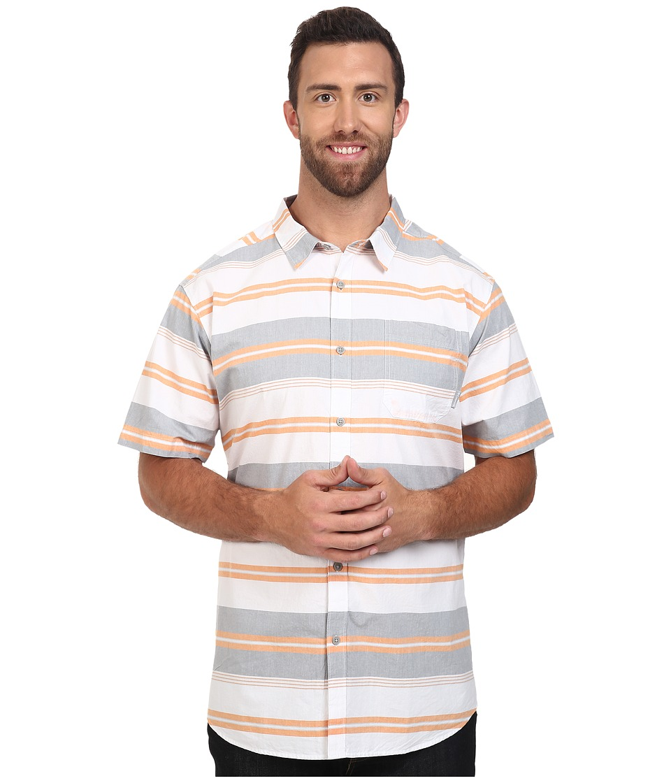 Columbia - Plus Size Thompson Hill II Yarn Dye Shirt (Solar Stripe) Men's Short Sleeve Button Up